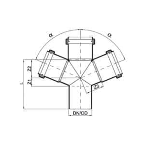 สี่ทาง Y (45°) DOUBLE BRANCH (45°)